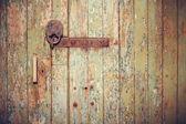 Vintage old wooden door — Photo