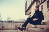 Girl city portrait — Stock Photo