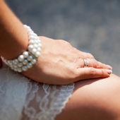 Brides hand — Stock Photo
