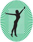 Girl silhouette — Stock Vector