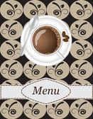 Coffee menu — Stock Vector