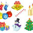 Stock Vector: Christmas icons
