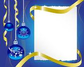 лист бумаги и рождественские украшения — Cтоковый вектор