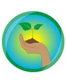 Ecology icon — Vector de stock