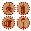 Icons featuring drinks — Stock Vector