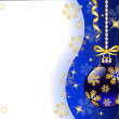 Vettoriale Stock : New Year's background with Christmas toys