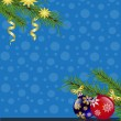 Stock vektor: Christmas background with fir branches