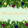 Christmas background with fir tree — Vector de stock #14956443