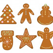 Stock Vector: christmas gingerbread