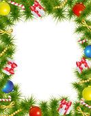 Christmas frame — Stock Vector