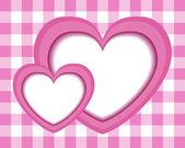 Girl blows the hearts — Stock Vector