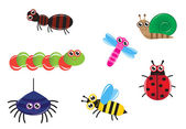Cartoon insects — Stock Vector