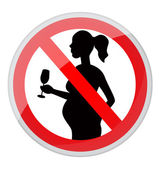Pregnant women and alcohol — Stock Vector
