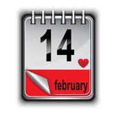 Calendar for February 14 — Stock Vector