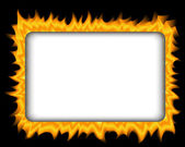 Fire frame — Stock Vector