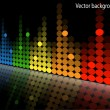 Multicolored equalizer — Stock Vector