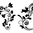Vintage decorative elements with swirls - Stock Vector