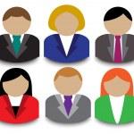 Business avatars — Stock Vector #21203073
