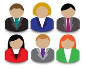 Business avatars — Stock Vector