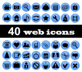 40 web icons — Stock Vector