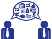 Dialog über die finanzen — Stockvektor