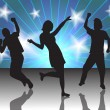 People in a disco - Imagen vectorial