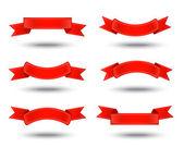 Rubans rouges — Vecteur