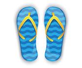 Shiny blue flip-flops — Stock Vector
