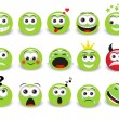 green emoticons — Stock Vector