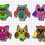 Cartoon owls — Stock Vector