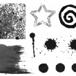 Set of black grunge elements — Stock Vector