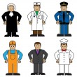 Cartoon set of people of different professions — Imagen vectorial