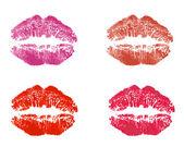 Lipstick kiss — Stock Vector