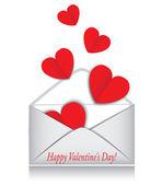 Heart, envelope, Valentine's Day — Stock Vector