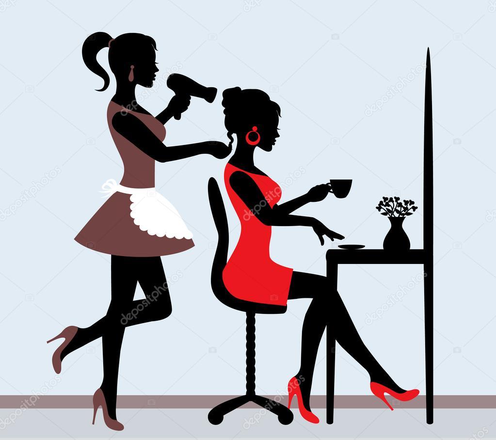 Peluquer a vector de stock olgasuslo 38112257 - Paris 2000 hair salon ...