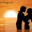 Couple in love at sunset — Stock Vector #42993523