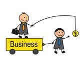 Motivation in business — Vector de stock