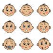 Set children's faces with different emotions — Stock Vector #47063345