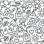 Children's drawings. Doodle background — Stock Vector