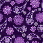 Seamless pattern with Turkish cucumbers and flowers — Stockvektor