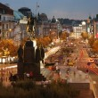 The Wenceslas Square, Prague - 图库照片