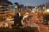 Wenceslas square, prag — Stok fotoğraf