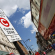 London congestion charge zone sign - Stock Photo