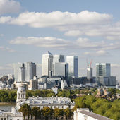 London Skyline, Canary Wharf — Stock Photo