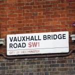 London Street Sign - Vauxhall Bridge — Stock Photo #13822026