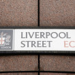 London Street Sign - Liverpool Street — Stock Photo #13822048