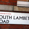 Stock Photo: London Street Sign - South Lambeth