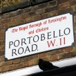 Stock Photo: London Street Sign - Portobello Road