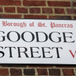 Stock Photo: London Street Sign - Goodge Street