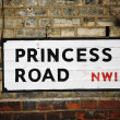 Stock Photo: London Street Sign - Princess Road